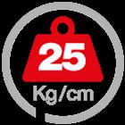 max load 25 [Kg/cm]